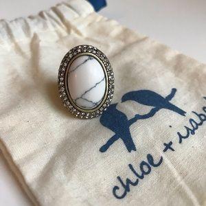 Howlite + Pavé Oval Ring 😍